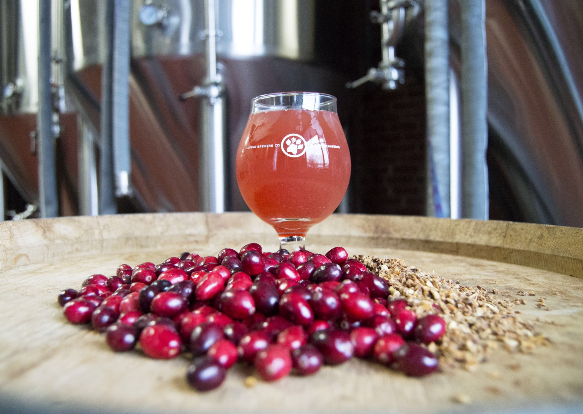 Lupine Cranberry Sour Meower • Photo via Lupine Brewing