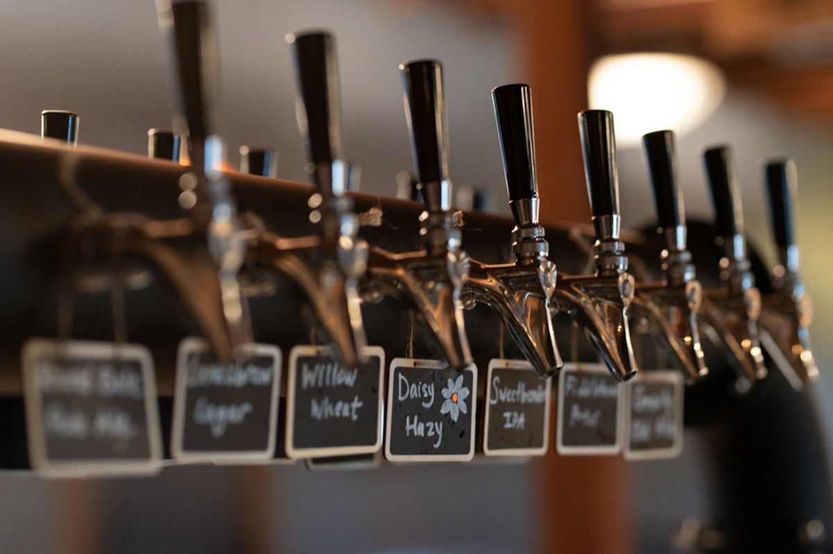 Taps at Sylvan Brewing in Lanesboro, Minnesota • Photo by Peterson Creative Photography & Design