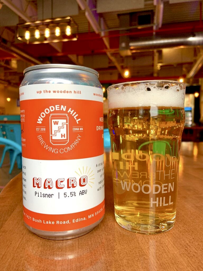 Wooden Hill Macro Lager • Photo via Wooden Hill Brewing Co.