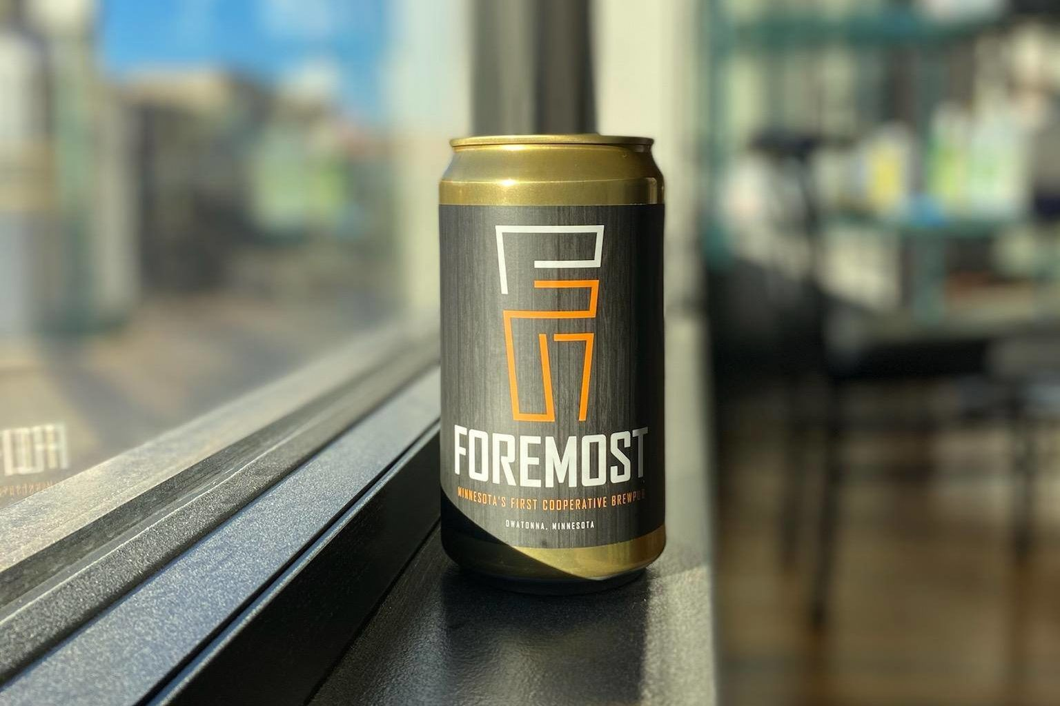 Foremost Brewing Crowler • Photo via Foremost Brewing Cooperative