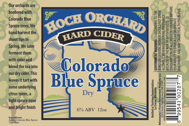 Hoch Colorado Blue Spruce Dry Cider • Graphic via Hoch Orchard