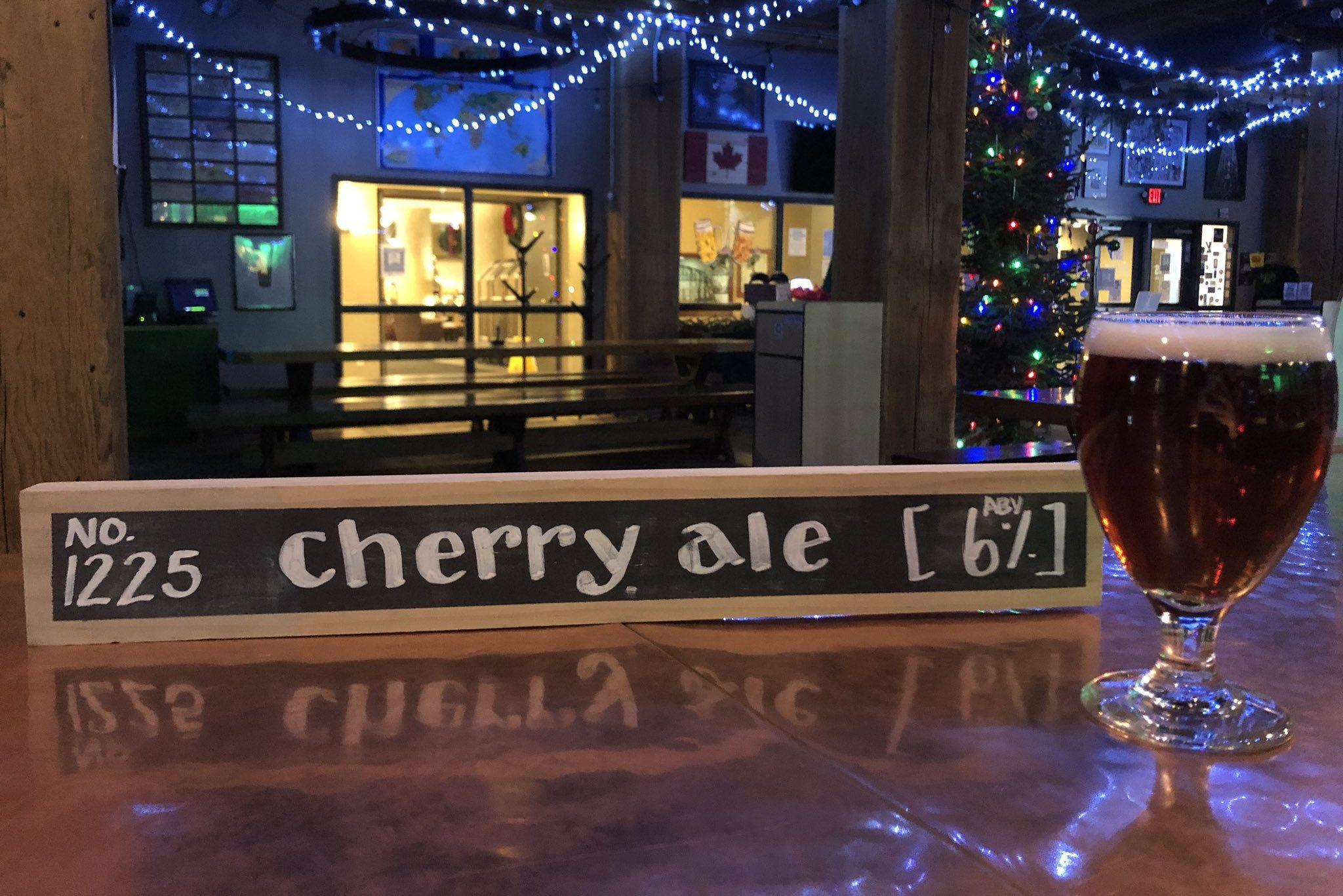 Hoops No. 1225 Cherry Ale • Photo via Hoops Brewing