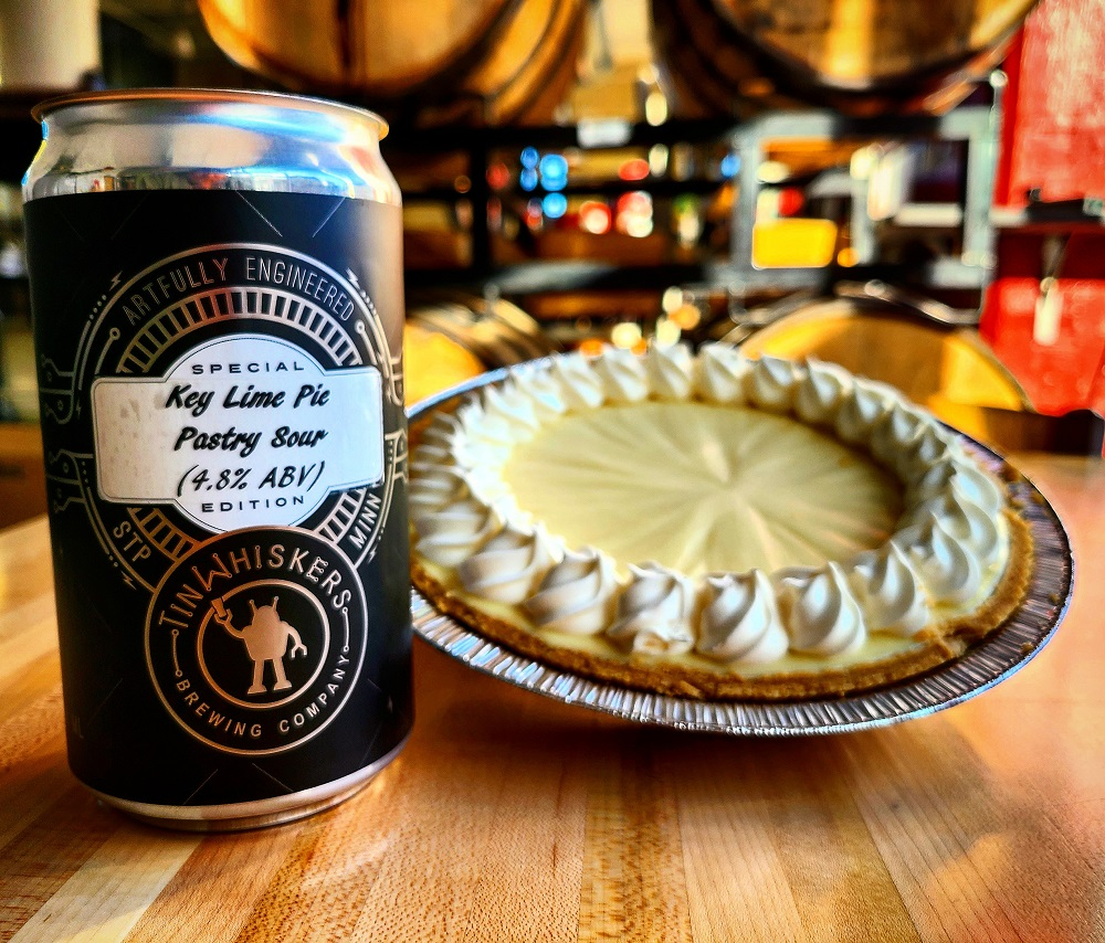 Tin Whiskers Key Lime Pastry Sour • Photo via Tin Whiskers Brewing Company