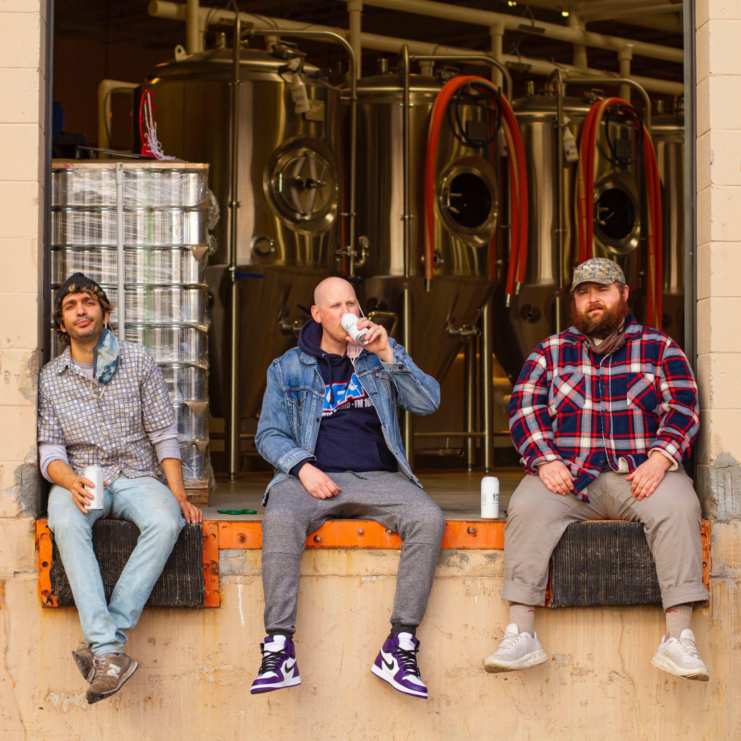 L to R: Bricksworth Beer Co.'s Chef Angelo Pennacchio, Steve Snyder, and Cooper Johnson • Photo via Bricksworth Beer Co.