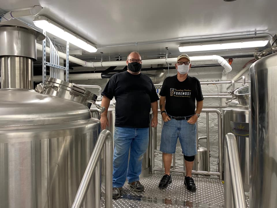 Terrance Flynn left) learned to brew from his dad Bob Flynn right) • Photo via Foremost Brewing Cooperative