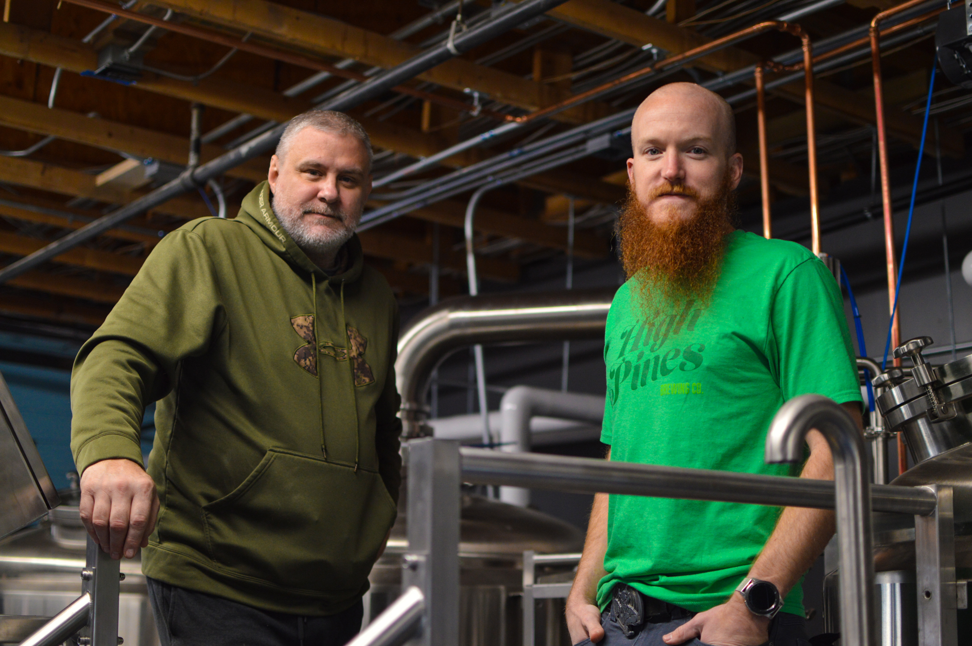 High Pines Brewing Company's Peter and head brewer Matt Faulkner • Photo by Madison Miller-WEB-008