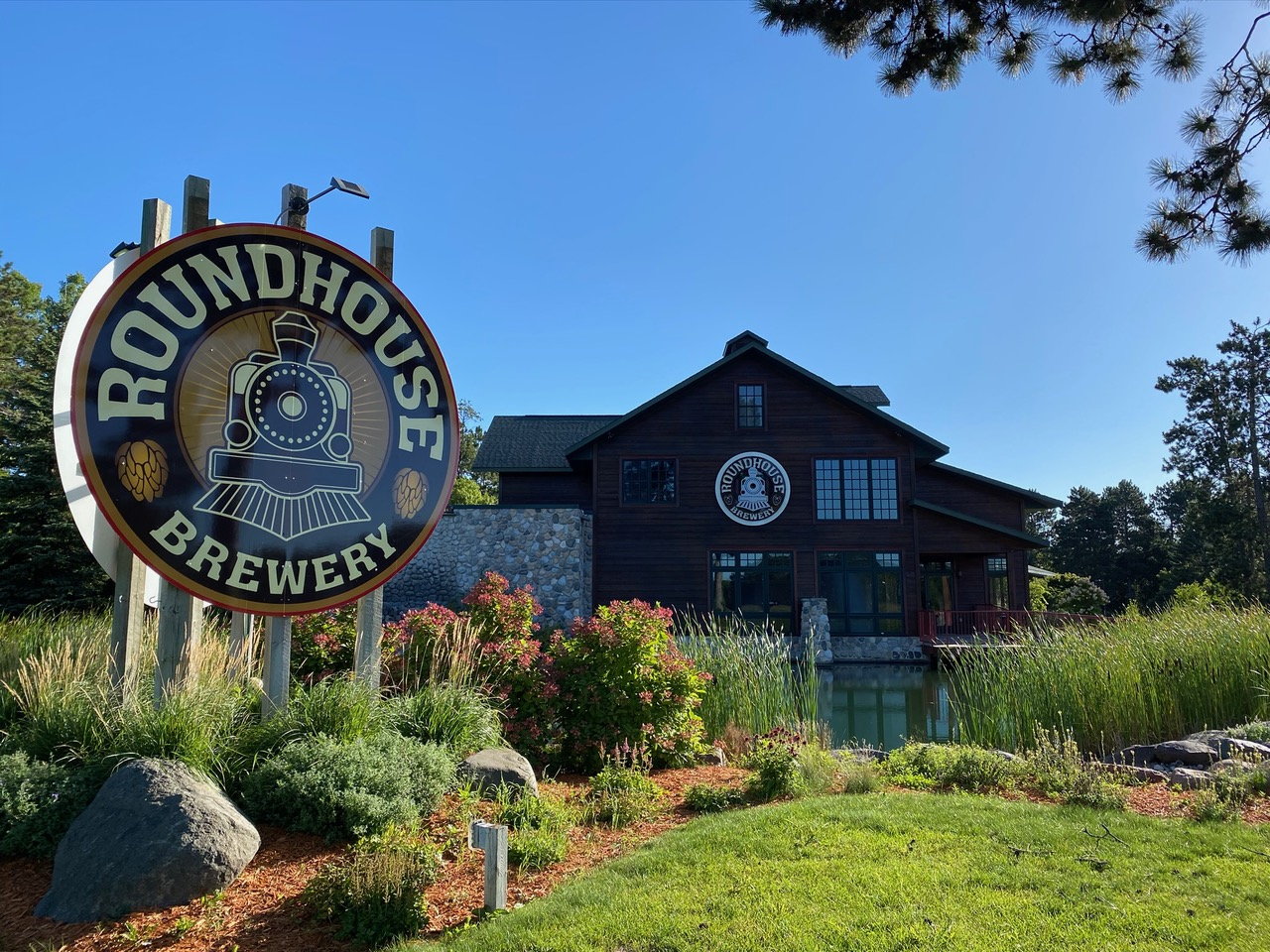 Roundhouse Brewery's new location in Nisswa, Minnesota • Photo via Roundhouse Brewery