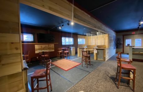The Wreck Room at Roundhouse Brewery's Nisswa facility • Photo via Roundhouse Brewery