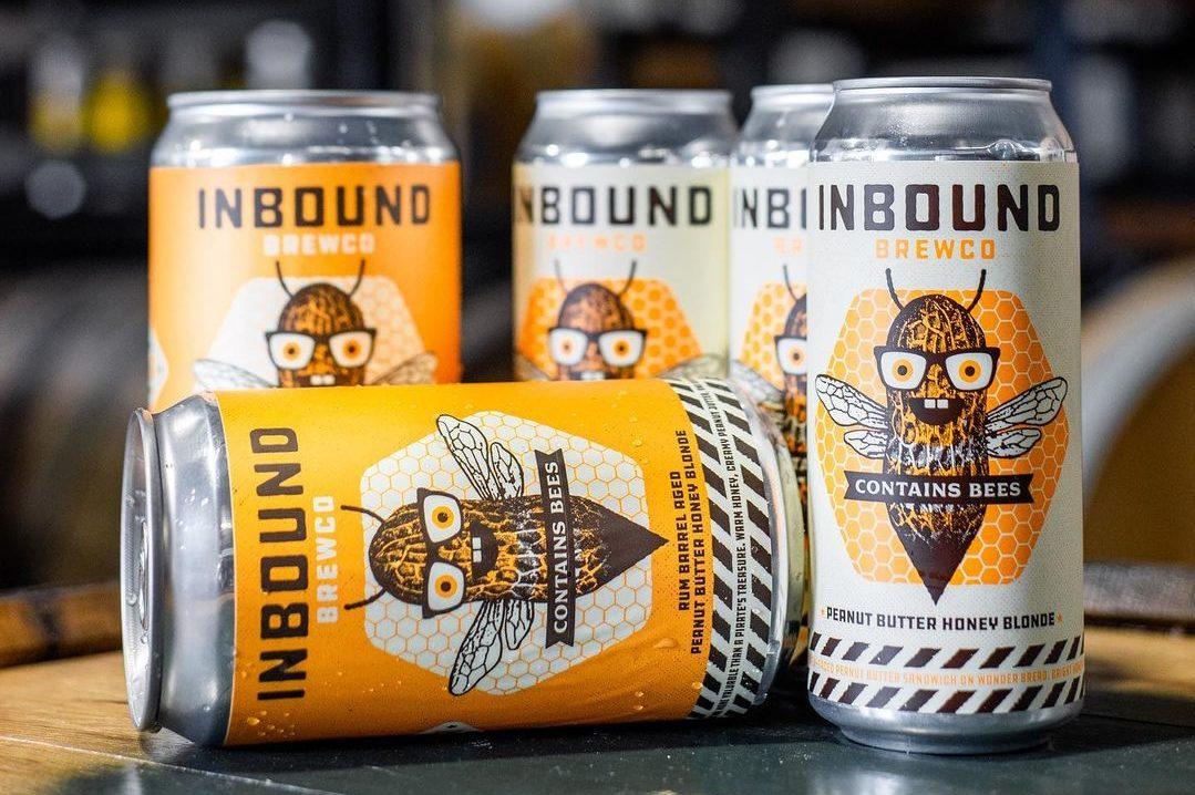 Inbound BrewCo Rum Barrel–Aged Contains Bees • Photo via Inbound BrewCo.