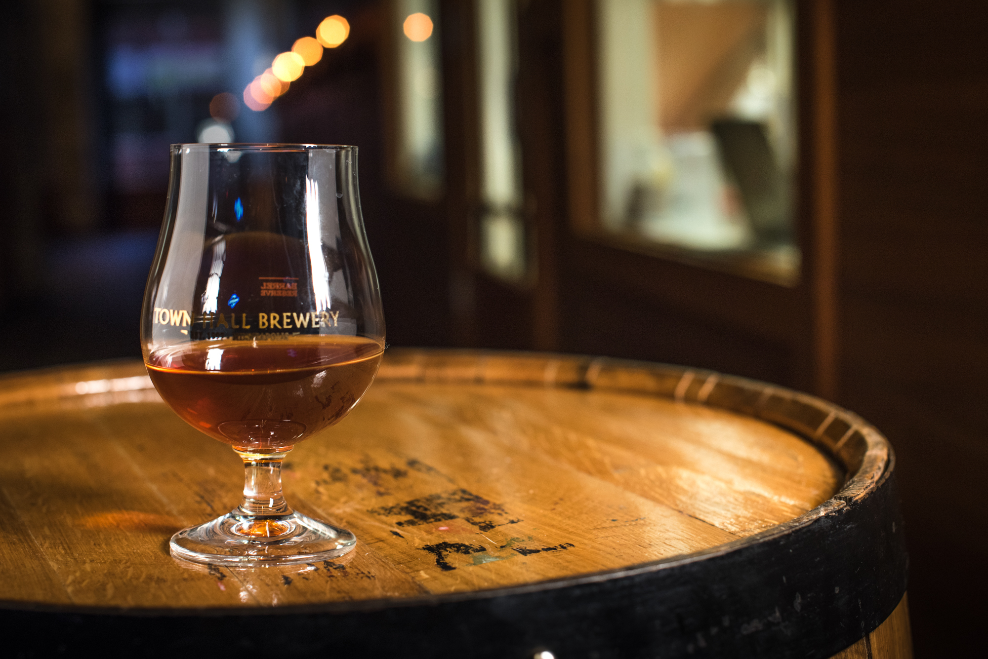Barrel-aged beer at Minneapolis Town Hall Brewery • Photo by Kevin Kramer