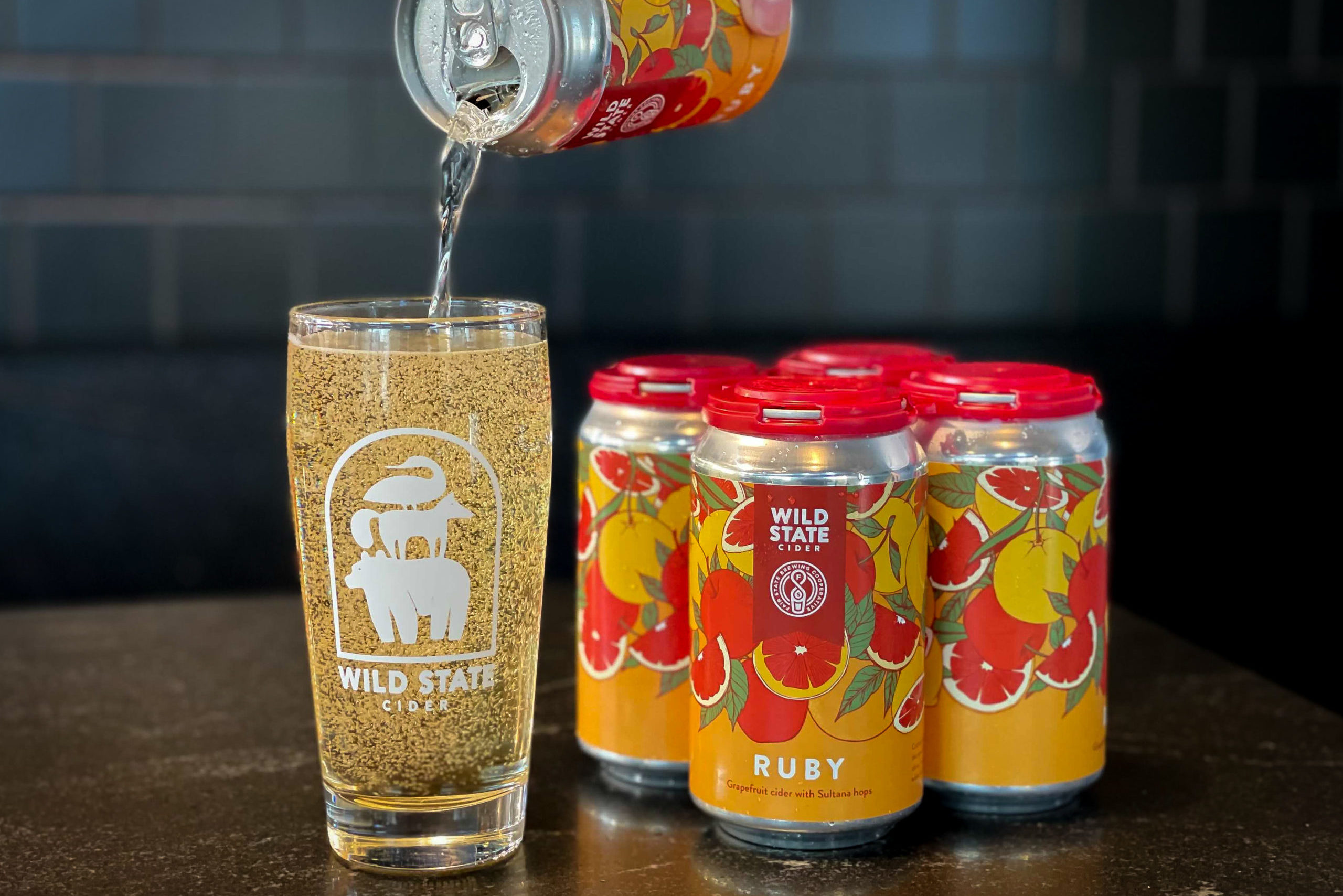 Wild State and Fair State collaboration Ruby • Photo via Wild State Cider