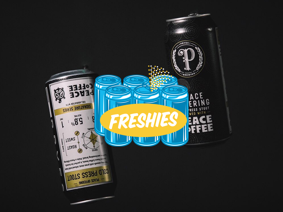 Pryes Peace Offering, a cold press coffee stout made in collaboration with Peace Coffee • Photo by Sam Ziegler