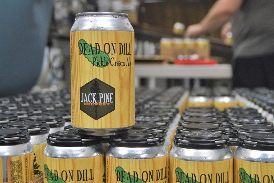 Jack Pine Dead on Dill Pickle Cream Ale • Photo via Jack Pine Brewery