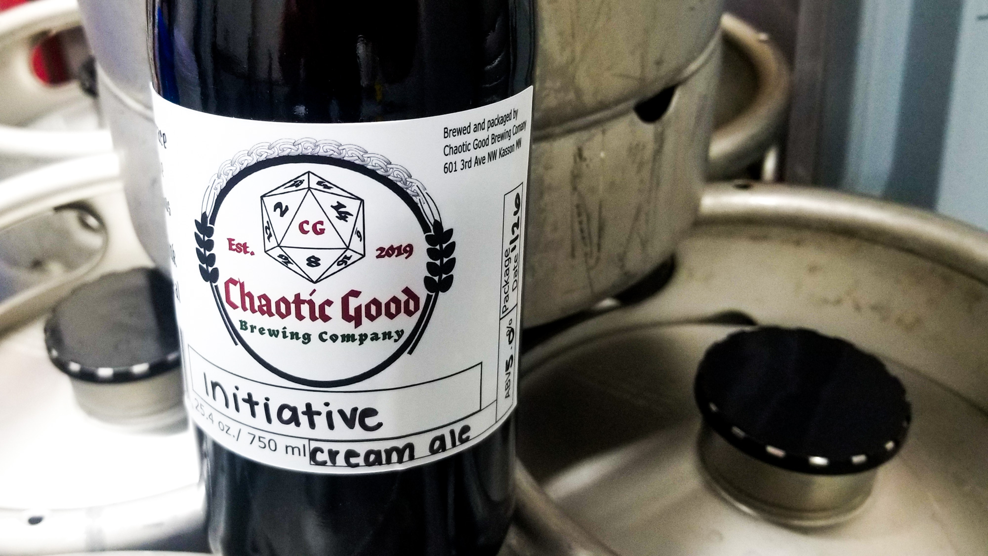 Initiative Cream Ale from Chaotic Good Brewing Company in Kasson, Minnesota • Photo by Scott Stroh