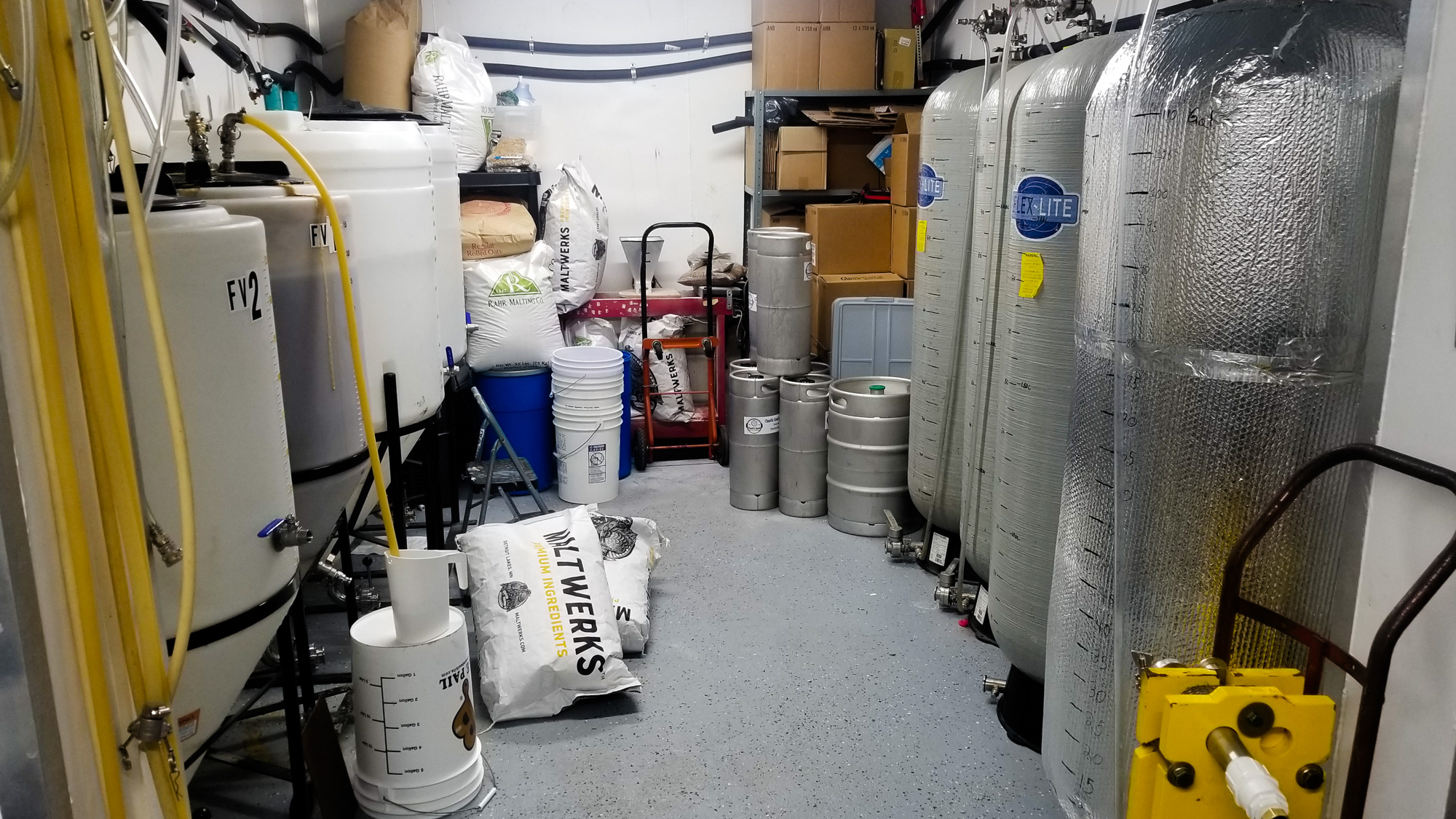 Chaotic Good's 300-square-foot brewery is located in Scott and Molly Stroh's backyard • Photo by Scott Stroh