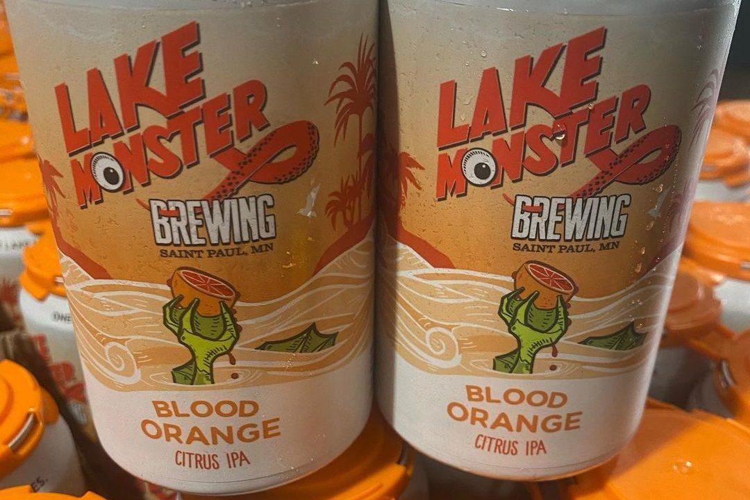 Lake Monster Blood Orange Citrus IPA • Photo via Lake Monster Brewing
