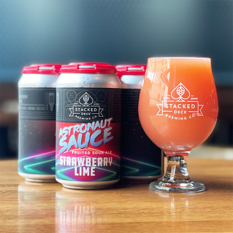 Stacked Deck Astronaut Sauce Strawberry Lime • Photo via Stacked Deck Brewing Company