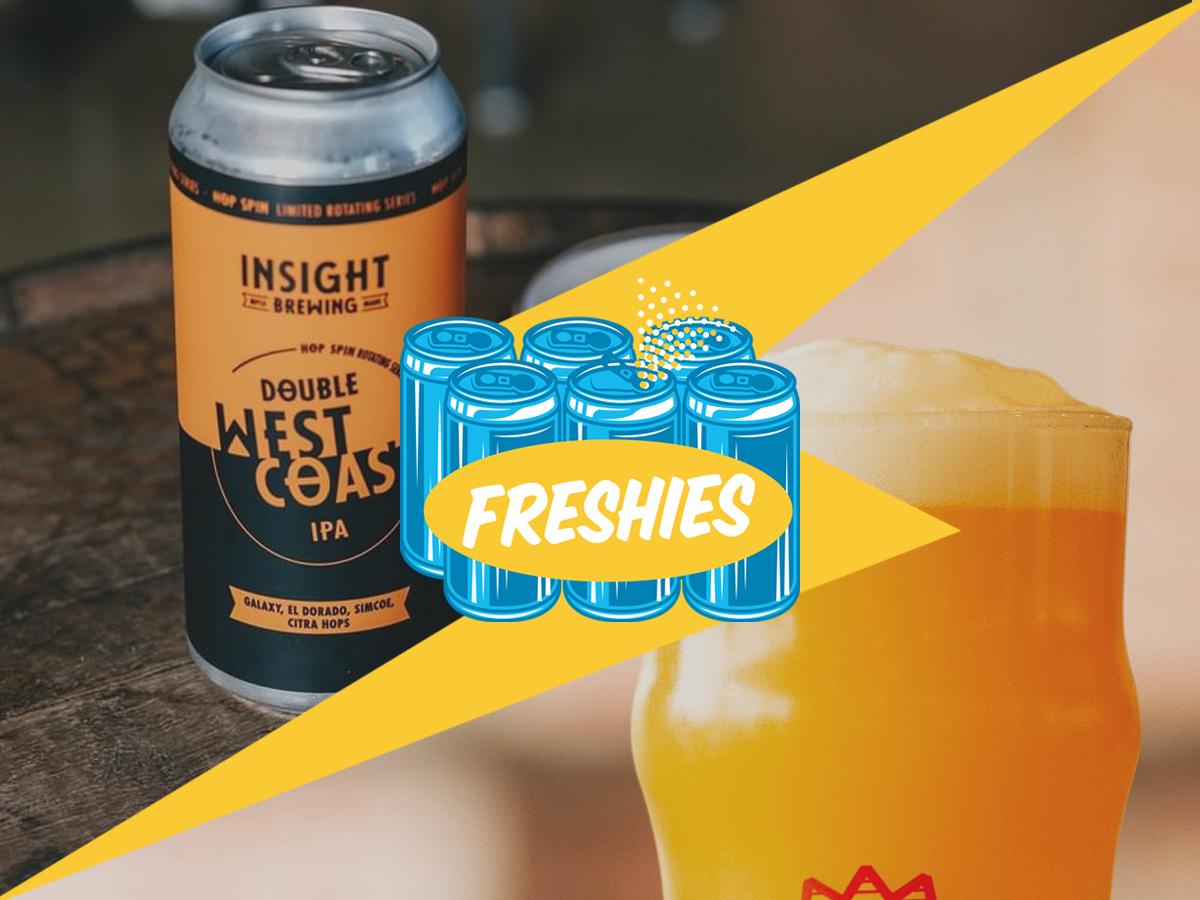 Insight Hop Spin: Double West Coast IPA & Bricksworth Stern, But Fair NEIPA • Photos via the breweries