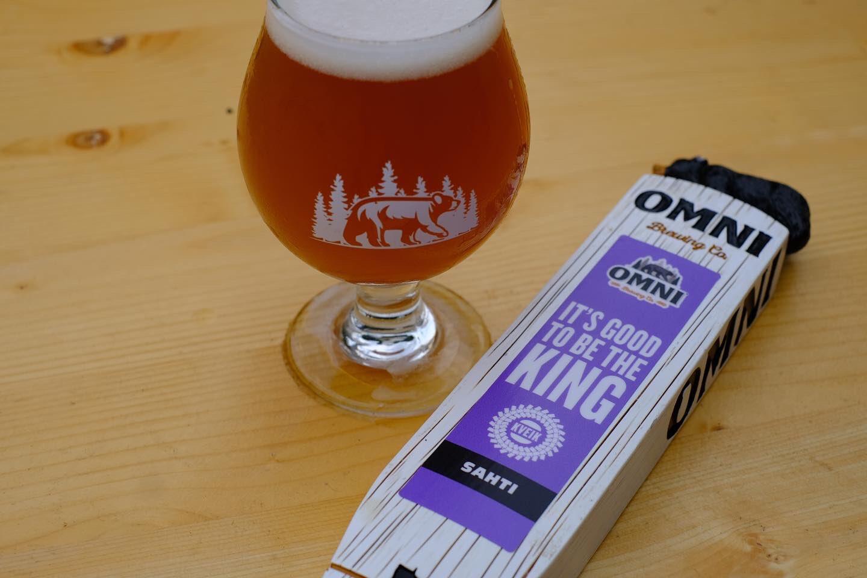 OMNI It's Good To Be The King Sahti • Photo via OMNI Brewing Co.