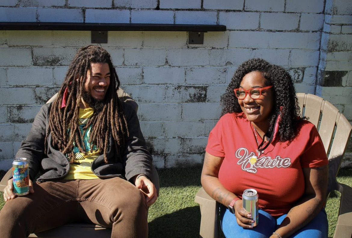 Beer Kulture Vice President Khris Johnson and President, CEO, and Co-Founder Latiesha Cook • Photo via Beer Kulture