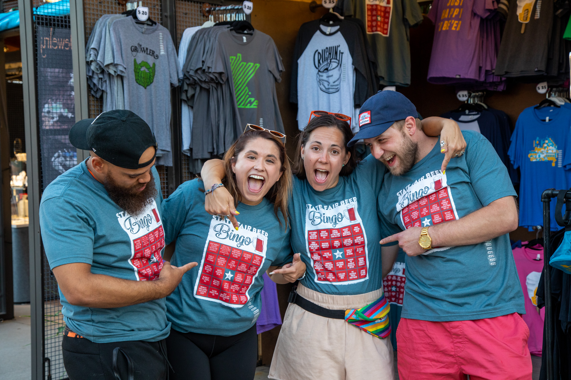 Beer Dabbler's Beer Bingo Shirts are on sale at the Beer Dabbler Store booth in the West End Market • Photo by Jordan Wipf