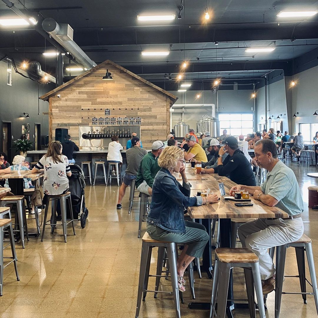 Back Shed Brewing Company opened in Waite Park on August 21, 2021 • Photo via Back Shed Brewing Company
