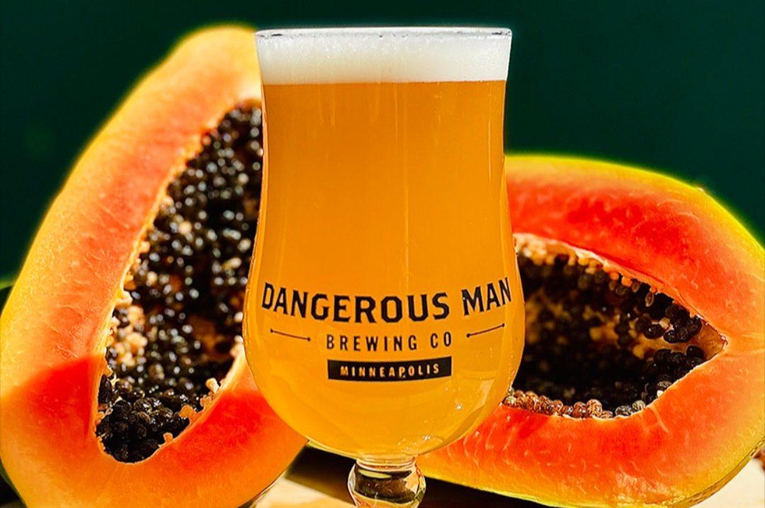 Dangerous Man Papaya Saison • Photo via Dangerous Man Brewing Company