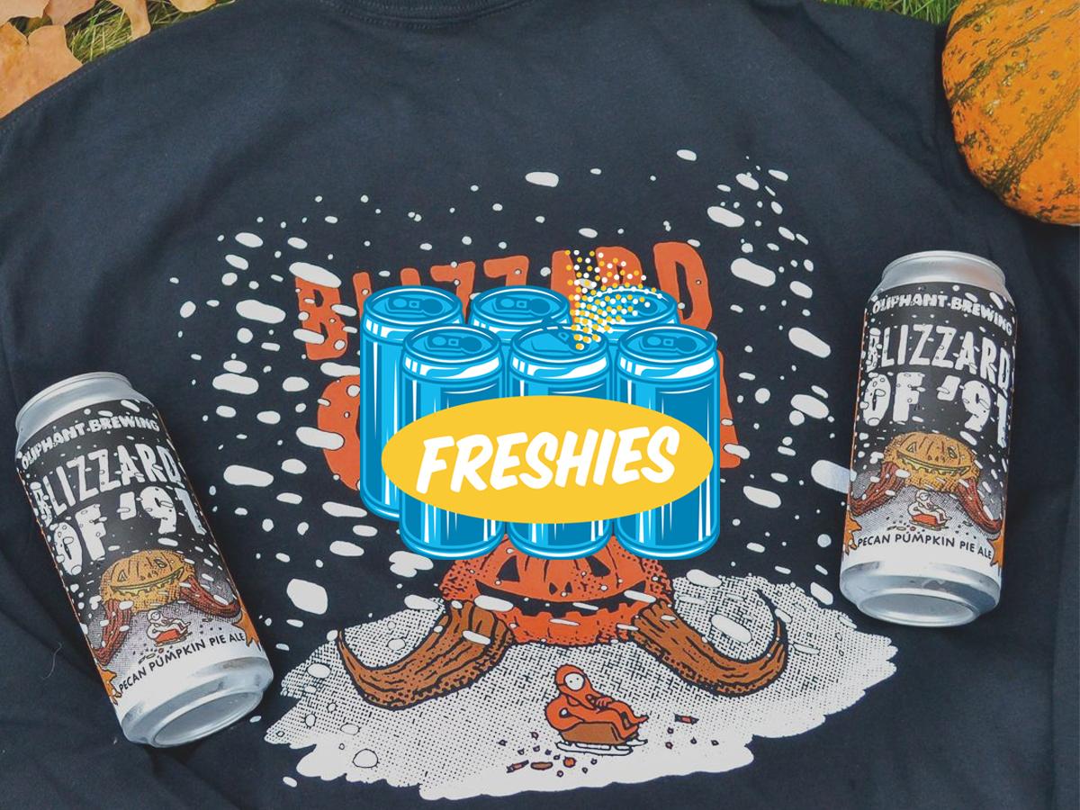 Oliphant Blizzard of '91 Pecan Pumpkin Ale • Photo via Oliphant Brewing