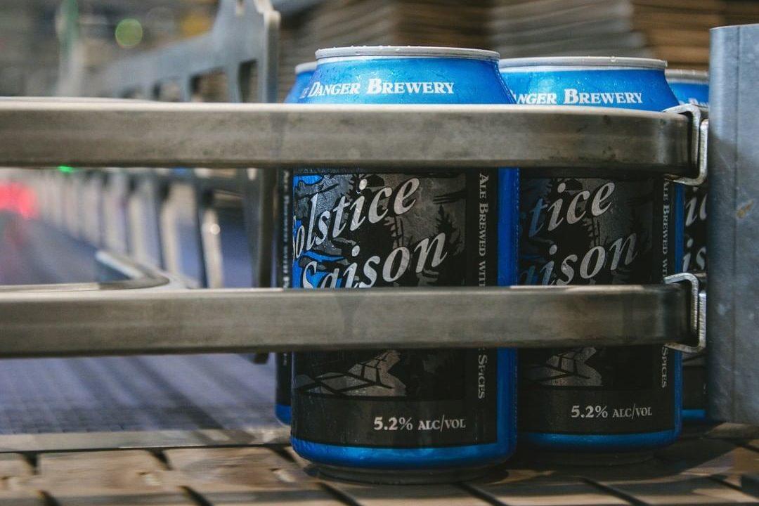 Castle Danger Solstice Saison • Photo via Castle Danger Brewery